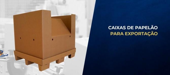 CAIXA DE PAPELÃO PARA EXPORTAÇÃO
