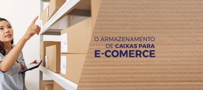 Armazenamento de caixas para e-commerce
