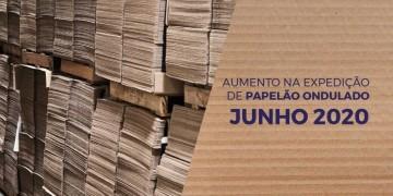 Aumento na expedição de papelão em Junho de 2020