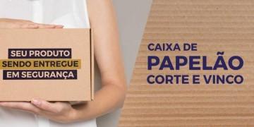 Caixa de papelão corte e vinco